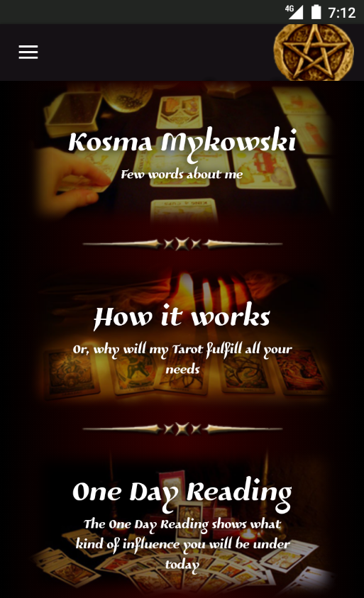 Kosma Tarot- screenshot