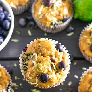 Greek Yogurt Blueberry Lime Muffins Recipe
