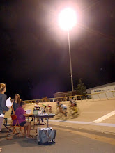 Photo: Racing continued on after dark, and we turned on the lights for some fun night-time racing.