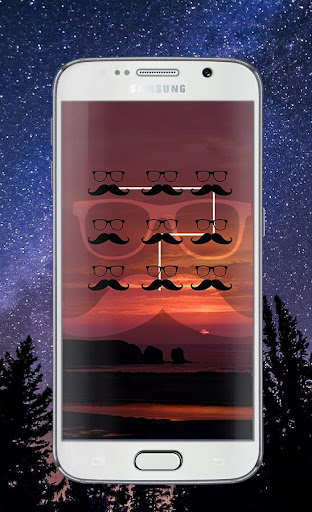 Hipster Pattern Lock Screen