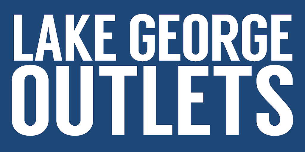 Logo for the Lake George Outlets which includes Log Jam Outlets, French Mountain Commons and Adirondack Outlet Mall