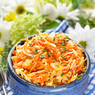 Amish Sweet and Sour Coleslaw.