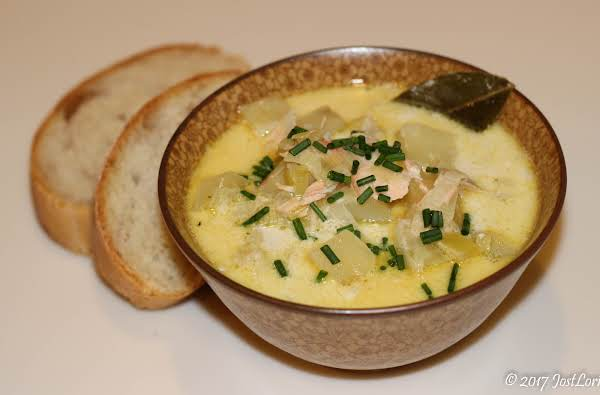 Creamy Salmon And Leek Soup Recipe