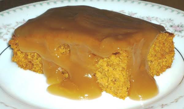 Pumpkin Cake With Carmel Cider Sauce