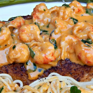 Pan-Fried Speckled Trout with Creamy Crawfish Sauce.