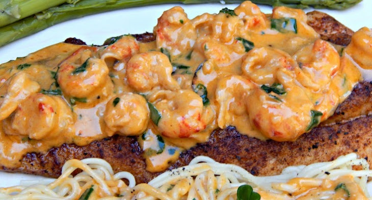 Pan-Fried Speckled Trout with Creamy Crawfish Sauce Recipe