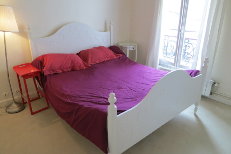 Master bedroom at 1 bedroom Apartment in Saint Germain
