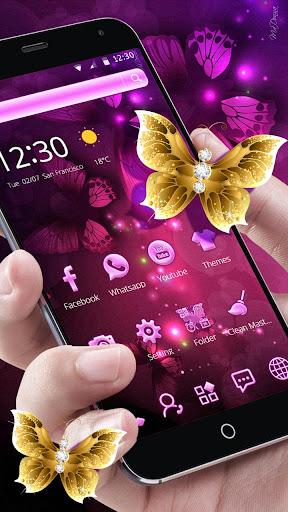 Pink Neon Purple Butterfly Theme ss1