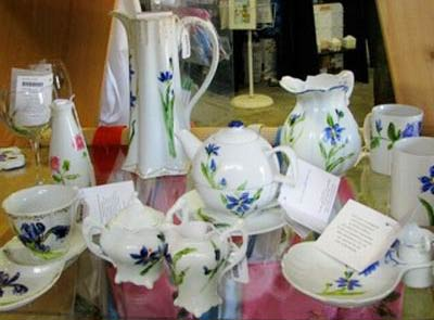 Hand-painted giftware at the Bermuda Craft Market.