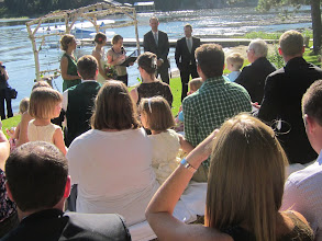 Photo: Lake weddings are the best!