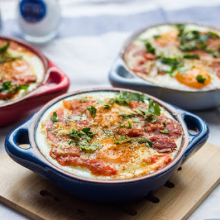 Spicy Tomato Baked Eggs with Chorizo