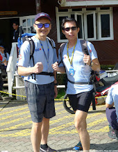 Photo: RARING TO GO ... Yours truly (KC) posing with RHB Group Managing Director, Kellee Kam. Without knowing, he is a fast trail runner!
