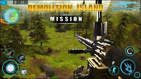 Island demolition ops : call of infinite war FPS Ekran Görüntüsü