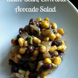 Black Bean, Corn and Avocado Salad