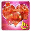 Sparkling Red Heart Keyboard Theme