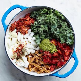 One-Pot Italian Sausage & Kale Pasta.