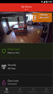 Rogers Smart Home Monitoring Screenshot