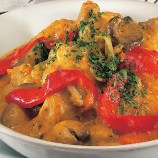 Braised Turkey with Mushrooms and Apricots