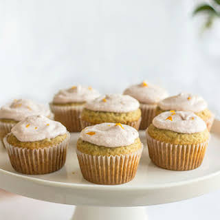 Vanilla Blood Orange Breakfast Cupcakes.