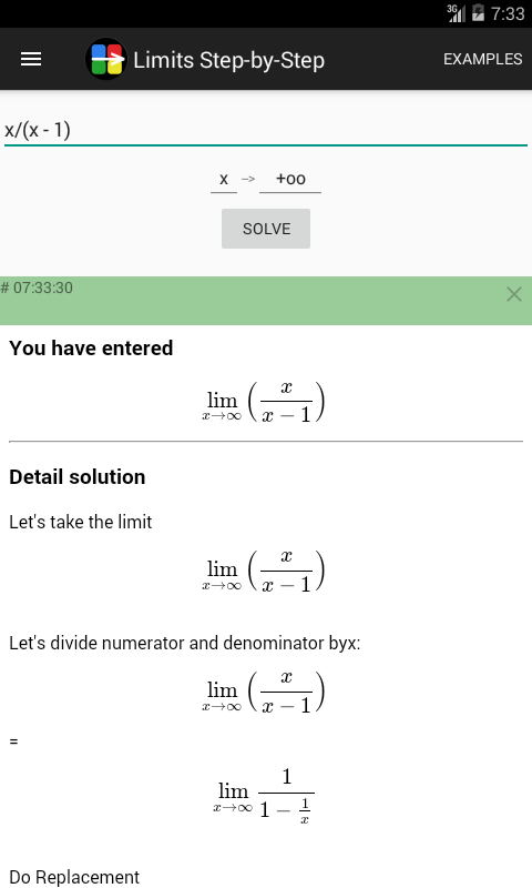 Limits Step By Step Calculator Android Apps On Google Play
