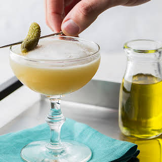 Pickle Juice Whiskey Sour.