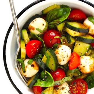 Cucumber Caprese Salad (or Pasta Salad) Recipe