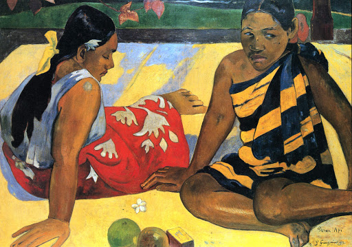 "tahitian-women-on-the-beach - ""Tahitian Women on the Beach"" (1891), by Paul Gauguin, can be seen at the Musée d'Orsay in Paris."