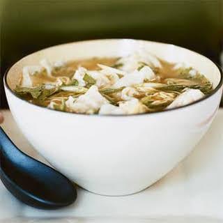 Won Ton Noodle Soup.