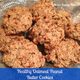 Healthy Oatmeal Peanut Butter Cookies.