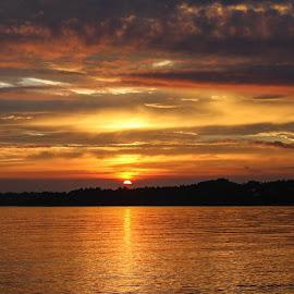 Sunset , Fanafjorden by Espen Rune Grimseid - Landscapes Sunsets & Sunrises ( fana, fjord, fanafjorden, reflections, waterscape, sunset, norway, bergen, canon )