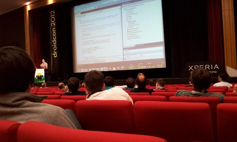 Photo: Keynote from Felix Rieseberg (Microsoft) about PhoneGap