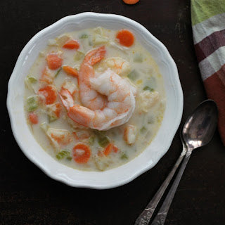 Potato and Shrimp Soup.