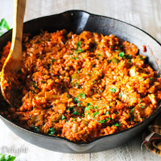 Leftover Turkey Spanish Rice