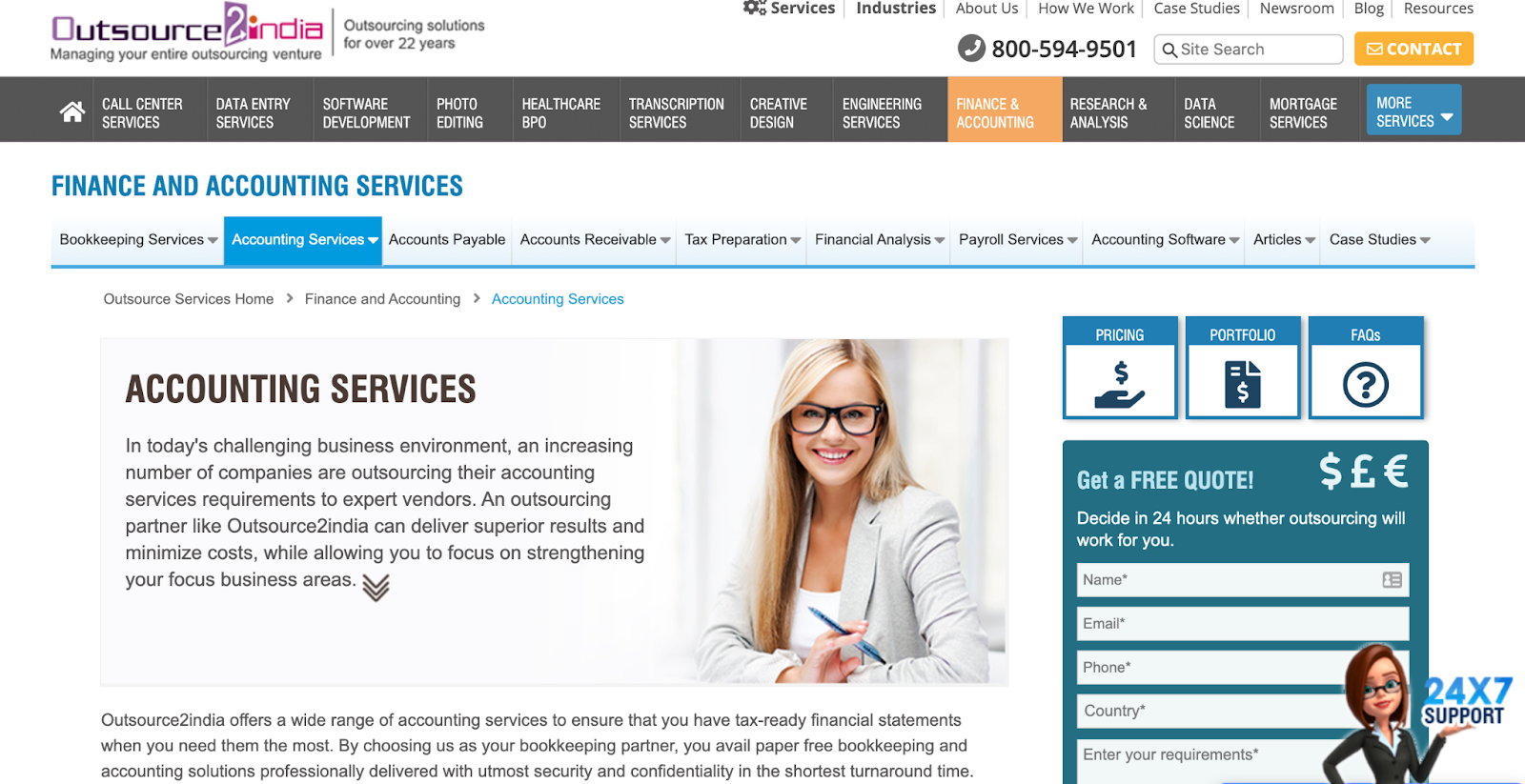 Outsource2india website – accounting outsourcing company in India