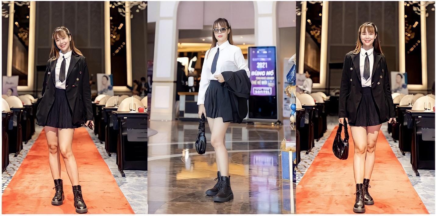 """Nữ biên tập Phạm Huỳnh Hoa Lài """"hóa thân"""" với phong cách nữ sinh tại sự kiện - Ảnh 6"""