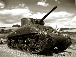 Photo: The Tollcross Sherman DD Tank. A Memorial to Exercise Tiger