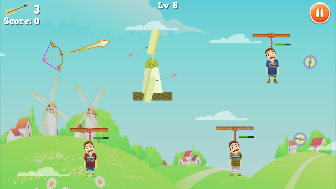 Rescue Bearded Archery Game 2- screenshot