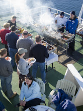 Photo: A beautiful day aboard ship -- we get a barbeque.  The weather was WONDERFUL! (taken by crew member)