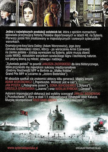 Ulotka filmu 'Syberiada Polska (tył - wersja B)'