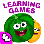 Funny Food! Educational games for toddlers 3 year
