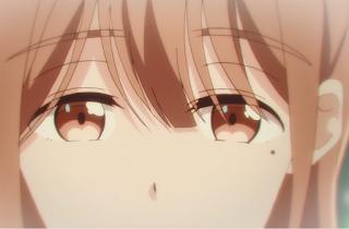 A close-up of Neko looking down sadly