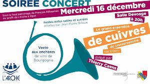 Concert Les cuivres de Noël du concervatoire de Dijon dirigé par Thierry Caens