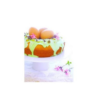 Easter Nest Cake With Sour Cream -Royal Icing and Pistachios