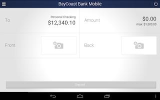 Screenshot of BayCoast Bank Mobile