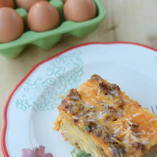 Slow Cooker Overnight Breakfast Casserole.