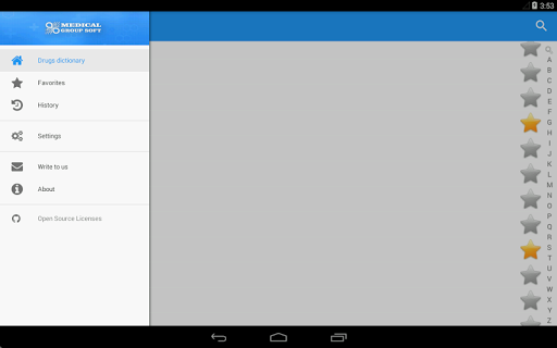 Drugs Dictionary Aplicaciones para Android screenshot