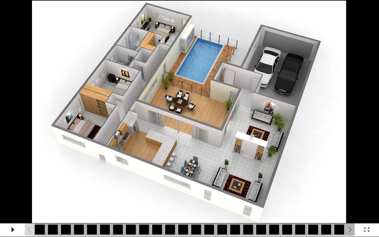 3d house design screenshot