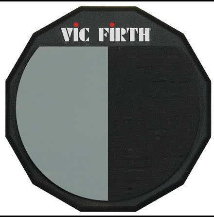"""12"""" Vic Firth delad övningsplatta med två ytor - PAD12H"""