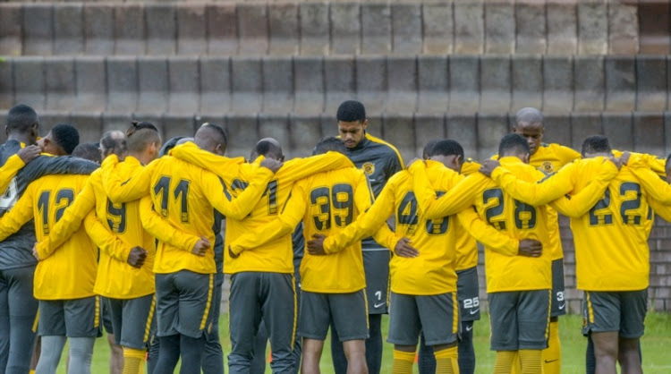 Kaizer Chiefs players in Johannesburg.