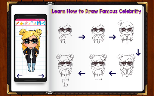 Learn How to Draw Chibi Famous Celebrities 1.2.2 screenshots 9